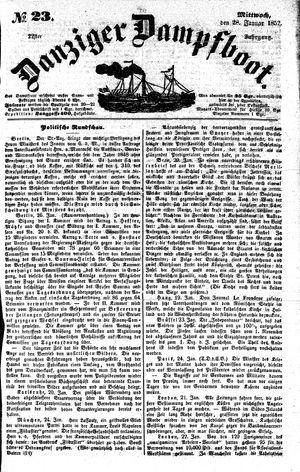 Danziger Dampfboot für Geist, Humor, Satire, Poesie, Welt- und Volksleben, Korrespondenz, Kunst, Literatur und Theater vom 28.01.1852