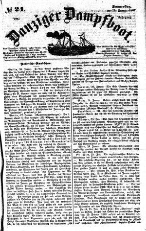 Danziger Dampfboot für Geist, Humor, Satire, Poesie, Welt- und Volksleben, Korrespondenz, Kunst, Literatur und Theater vom 29.01.1852