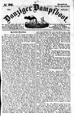Danziger Dampfboot für Geist, Humor, Satire, Poesie, Welt- und Volksleben, Korrespondenz, Kunst, Literatur und Theater vom 31.01.1852