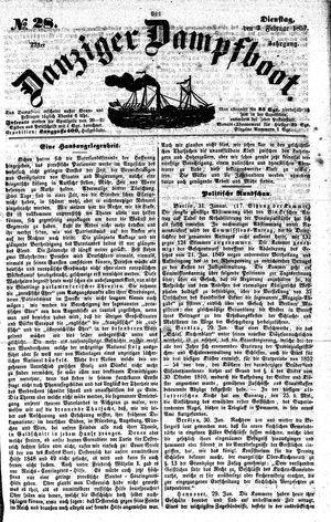 Danziger Dampfboot für Geist, Humor, Satire, Poesie, Welt- und Volksleben, Korrespondenz, Kunst, Literatur und Theater vom 03.02.1852