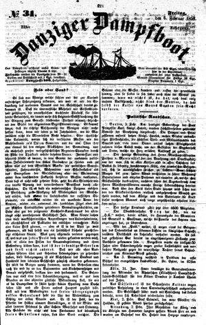 Danziger Dampfboot für Geist, Humor, Satire, Poesie, Welt- und Volksleben, Korrespondenz, Kunst, Literatur und Theater vom 06.02.1852