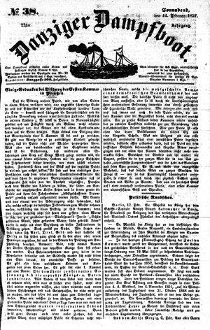 Danziger Dampfboot für Geist, Humor, Satire, Poesie, Welt- und Volksleben, Korrespondenz, Kunst, Literatur und Theater vom 14.02.1852