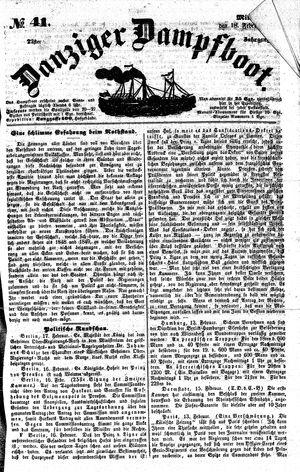 Danziger Dampfboot für Geist, Humor, Satire, Poesie, Welt- und Volksleben, Korrespondenz, Kunst, Literatur und Theater vom 18.02.1852