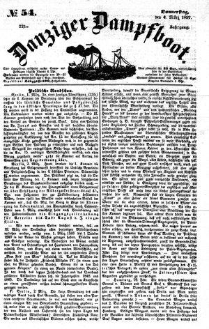 Danziger Dampfboot für Geist, Humor, Satire, Poesie, Welt- und Volksleben, Korrespondenz, Kunst, Literatur und Theater vom 04.03.1852