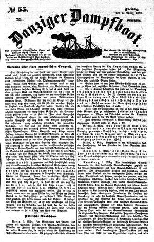 Danziger Dampfboot für Geist, Humor, Satire, Poesie, Welt- und Volksleben, Korrespondenz, Kunst, Literatur und Theater vom 05.03.1852