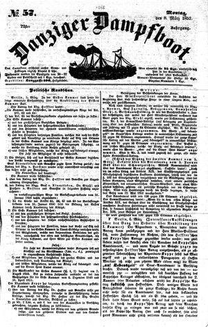 Danziger Dampfboot für Geist, Humor, Satire, Poesie, Welt- und Volksleben, Korrespondenz, Kunst, Literatur und Theater vom 08.03.1852