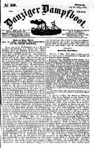 Danziger Dampfboot für Geist, Humor, Satire, Poesie, Welt- und Volksleben, Korrespondenz, Kunst, Literatur und Theater on Mar 10, 1852