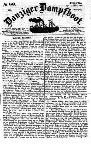 Danziger Dampfboot für Geist, Humor, Satire, Poesie, Welt- und Volksleben, Korrespondenz, Kunst, Literatur und Theater on Mar 11, 1852