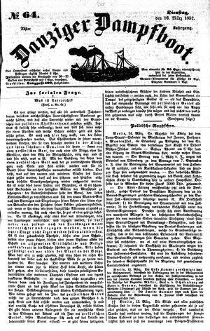 Danziger Dampfboot für Geist, Humor, Satire, Poesie, Welt- und Volksleben, Korrespondenz, Kunst, Literatur und Theater on Mar 16, 1852