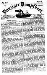 Danziger Dampfboot für Geist, Humor, Satire, Poesie, Welt- und Volksleben, Korrespondenz, Kunst, Literatur und Theater (17.03.1852)