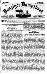 Danziger Dampfboot für Geist, Humor, Satire, Poesie, Welt- und Volksleben, Korrespondenz, Kunst, Literatur und Theater (18.03.1852)