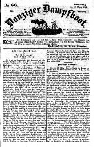 Danziger Dampfboot für Geist, Humor, Satire, Poesie, Welt- und Volksleben, Korrespondenz, Kunst, Literatur und Theater vom 18.03.1852