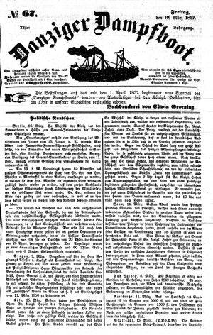 Danziger Dampfboot für Geist, Humor, Satire, Poesie, Welt- und Volksleben, Korrespondenz, Kunst, Literatur und Theater on Mar 19, 1852
