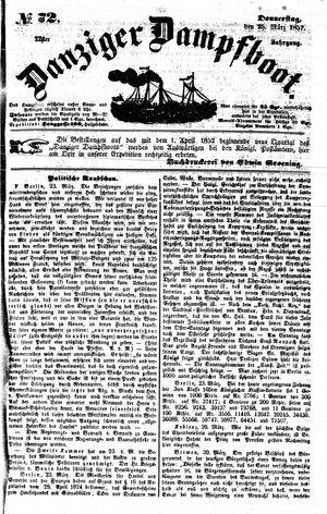 Danziger Dampfboot für Geist, Humor, Satire, Poesie, Welt- und Volksleben, Korrespondenz, Kunst, Literatur und Theater vom 25.03.1852