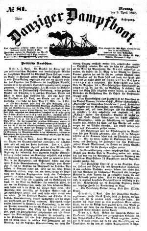 Danziger Dampfboot für Geist, Humor, Satire, Poesie, Welt- und Volksleben, Korrespondenz, Kunst, Literatur und Theater vom 05.04.1852
