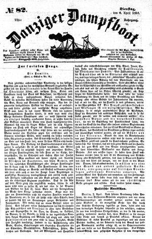 Danziger Dampfboot für Geist, Humor, Satire, Poesie, Welt- und Volksleben, Korrespondenz, Kunst, Literatur und Theater vom 06.04.1852