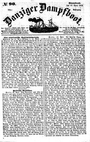 Danziger Dampfboot für Geist, Humor, Satire, Poesie, Welt- und Volksleben, Korrespondenz, Kunst, Literatur und Theater vom 17.04.1852