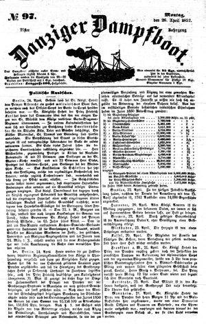 Danziger Dampfboot für Geist, Humor, Satire, Poesie, Welt- und Volksleben, Korrespondenz, Kunst, Literatur und Theater vom 26.04.1852