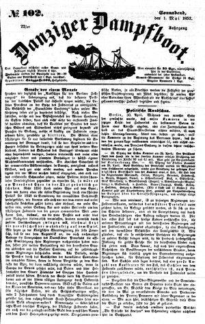 Danziger Dampfboot für Geist, Humor, Satire, Poesie, Welt- und Volksleben, Korrespondenz, Kunst, Literatur und Theater vom 01.05.1852