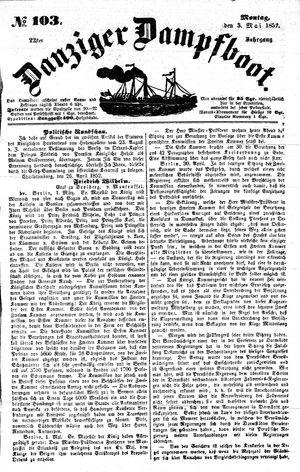 Danziger Dampfboot für Geist, Humor, Satire, Poesie, Welt- und Volksleben, Korrespondenz, Kunst, Literatur und Theater vom 03.05.1852