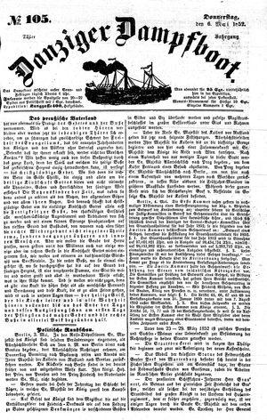 Danziger Dampfboot für Geist, Humor, Satire, Poesie, Welt- und Volksleben, Korrespondenz, Kunst, Literatur und Theater vom 06.05.1852