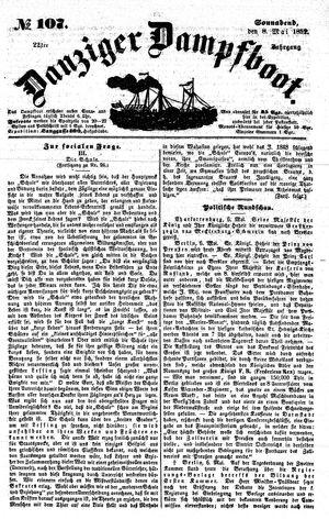 Danziger Dampfboot für Geist, Humor, Satire, Poesie, Welt- und Volksleben, Korrespondenz, Kunst, Literatur und Theater on May 8, 1852