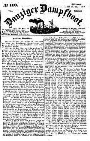 Danziger Dampfboot für Geist, Humor, Satire, Poesie, Welt- und Volksleben, Korrespondenz, Kunst, Literatur und Theater vom 12.05.1852