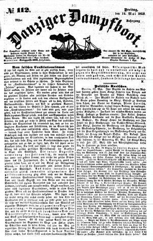 Danziger Dampfboot für Geist, Humor, Satire, Poesie, Welt- und Volksleben, Korrespondenz, Kunst, Literatur und Theater on May 14, 1852