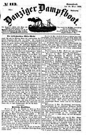 Danziger Dampfboot für Geist, Humor, Satire, Poesie, Welt- und Volksleben, Korrespondenz, Kunst, Literatur und Theater vom 15.05.1852