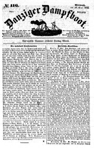 Danziger Dampfboot für Geist, Humor, Satire, Poesie, Welt- und Volksleben, Korrespondenz, Kunst, Literatur und Theater vom 19.05.1852