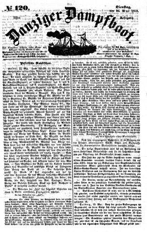 Danziger Dampfboot für Geist, Humor, Satire, Poesie, Welt- und Volksleben, Korrespondenz, Kunst, Literatur und Theater vom 25.05.1852