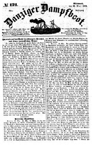Danziger Dampfboot für Geist, Humor, Satire, Poesie, Welt- und Volksleben, Korrespondenz, Kunst, Literatur und Theater vom 26.05.1852