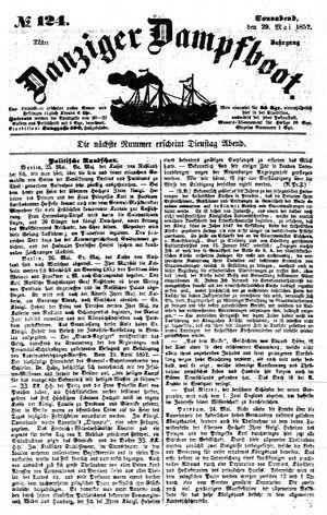 Danziger Dampfboot für Geist, Humor, Satire, Poesie, Welt- und Volksleben, Korrespondenz, Kunst, Literatur und Theater vom 29.05.1852