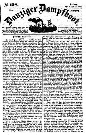 Danziger Dampfboot für Geist, Humor, Satire, Poesie, Welt- und Volksleben, Korrespondenz, Kunst, Literatur und Theater vom 04.06.1852