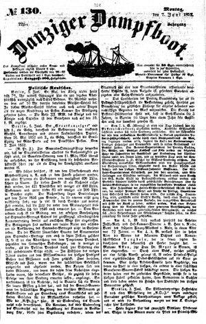 Danziger Dampfboot für Geist, Humor, Satire, Poesie, Welt- und Volksleben, Korrespondenz, Kunst, Literatur und Theater vom 07.06.1852