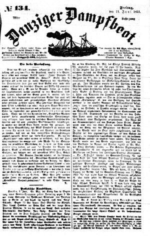 Danziger Dampfboot für Geist, Humor, Satire, Poesie, Welt- und Volksleben, Korrespondenz, Kunst, Literatur und Theater on Jun 11, 1852