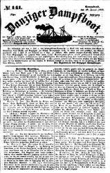 Danziger Dampfboot für Geist, Humor, Satire, Poesie, Welt- und Volksleben, Korrespondenz, Kunst, Literatur und Theater (19.06.1852)