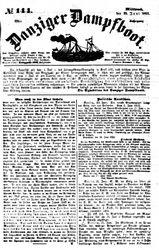 Danziger Dampfboot für Geist, Humor, Satire, Poesie, Welt- und Volksleben, Korrespondenz, Kunst, Literatur und Theater (23.06.1852)