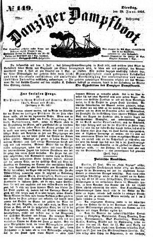 Danziger Dampfboot für Geist, Humor, Satire, Poesie, Welt- und Volksleben, Korrespondenz, Kunst, Literatur und Theater vom 29.06.1852