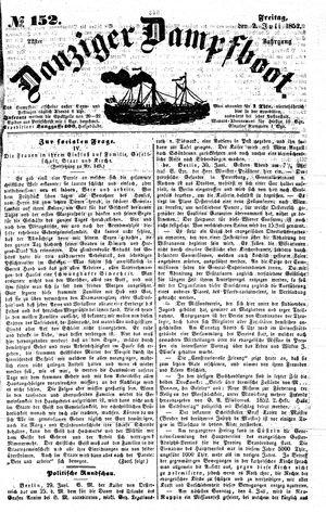 Danziger Dampfboot für Geist, Humor, Satire, Poesie, Welt- und Volksleben, Korrespondenz, Kunst, Literatur und Theater vom 02.07.1852
