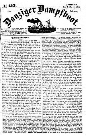 Danziger Dampfboot für Geist, Humor, Satire, Poesie, Welt- und Volksleben, Korrespondenz, Kunst, Literatur und Theater on Jul 3, 1852