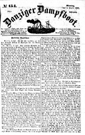 Danziger Dampfboot für Geist, Humor, Satire, Poesie, Welt- und Volksleben, Korrespondenz, Kunst, Literatur und Theater vom 05.07.1852