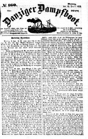 Danziger Dampfboot für Geist, Humor, Satire, Poesie, Welt- und Volksleben, Korrespondenz, Kunst, Literatur und Theater on Jul 12, 1852
