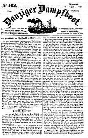 Danziger Dampfboot für Geist, Humor, Satire, Poesie, Welt- und Volksleben, Korrespondenz, Kunst, Literatur und Theater vom 14.07.1852
