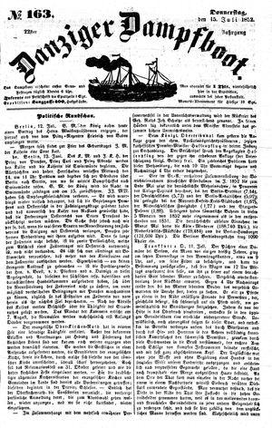 Danziger Dampfboot für Geist, Humor, Satire, Poesie, Welt- und Volksleben, Korrespondenz, Kunst, Literatur und Theater vom 15.07.1852