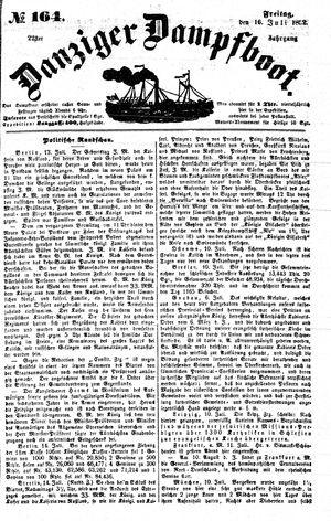 Danziger Dampfboot für Geist, Humor, Satire, Poesie, Welt- und Volksleben, Korrespondenz, Kunst, Literatur und Theater vom 16.07.1852
