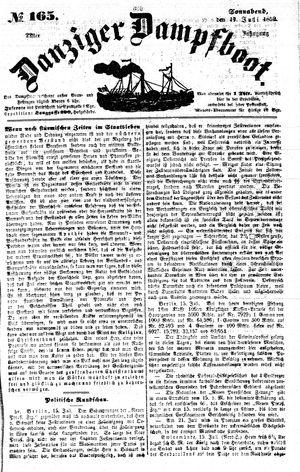 Danziger Dampfboot für Geist, Humor, Satire, Poesie, Welt- und Volksleben, Korrespondenz, Kunst, Literatur und Theater vom 17.07.1852