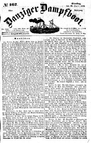 Danziger Dampfboot für Geist, Humor, Satire, Poesie, Welt- und Volksleben, Korrespondenz, Kunst, Literatur und Theater vom 20.07.1852
