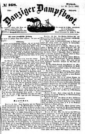 Danziger Dampfboot für Geist, Humor, Satire, Poesie, Welt- und Volksleben, Korrespondenz, Kunst, Literatur und Theater vom 21.07.1852