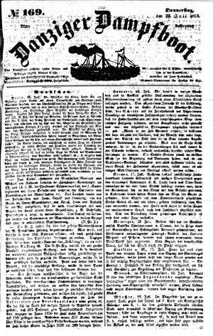 Danziger Dampfboot für Geist, Humor, Satire, Poesie, Welt- und Volksleben, Korrespondenz, Kunst, Literatur und Theater vom 22.07.1852